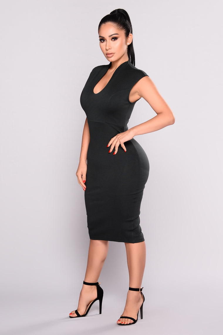Gabriella Midi Dress - Hunter