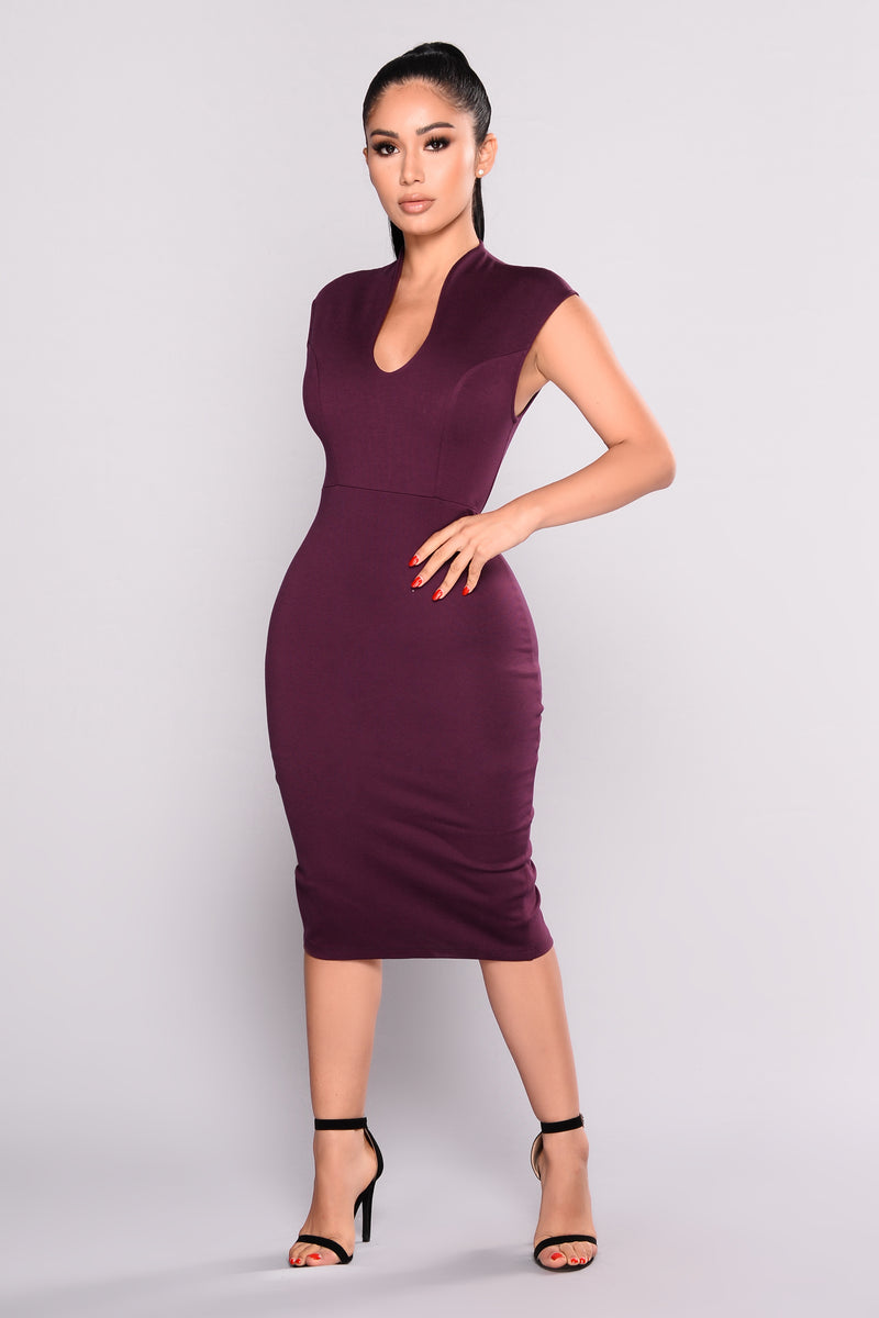 Womens dresses maxi mini cocktail denim sexy club going out gabriella midi dress eggplant ombrellifo Choice Image