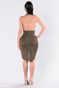 Galina Dress - Gold/Black