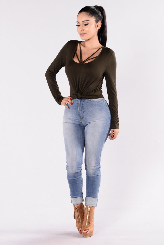 You May Knot Top - Olive