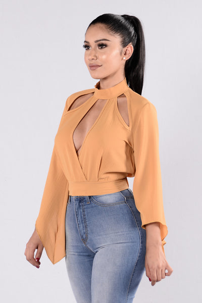 Spend It Fashion Top - Mustard