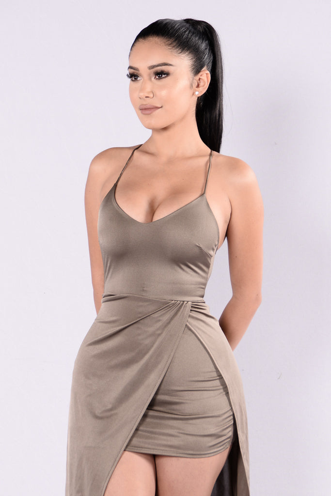 Can't Sleep Alone Dress - Bronze