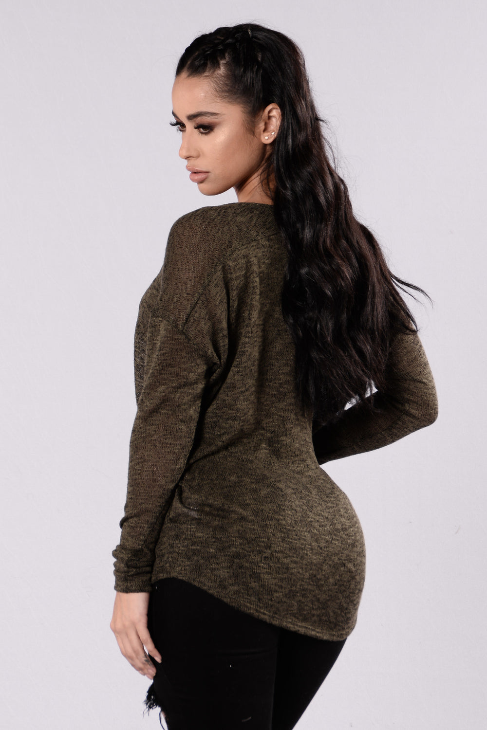 Change of Speed Sweater - Olive