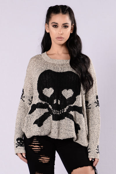 Sticks And Stones Sweater - Grey