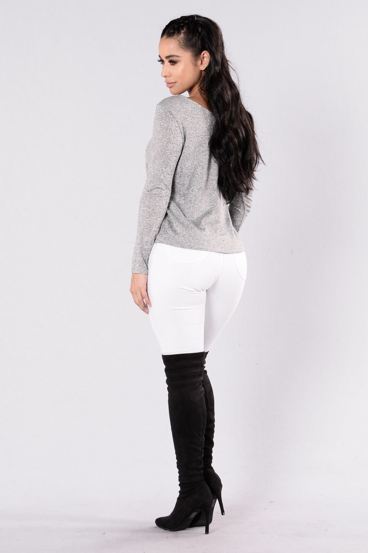 Fawn Sweater - Heather Grey