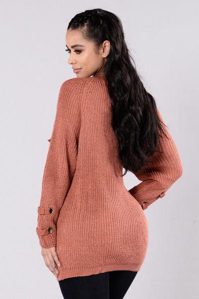 Lake Boat Sweater - Marsala