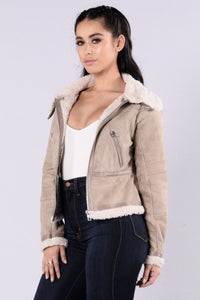 Sky Is The Limit Jacket - Light Grey