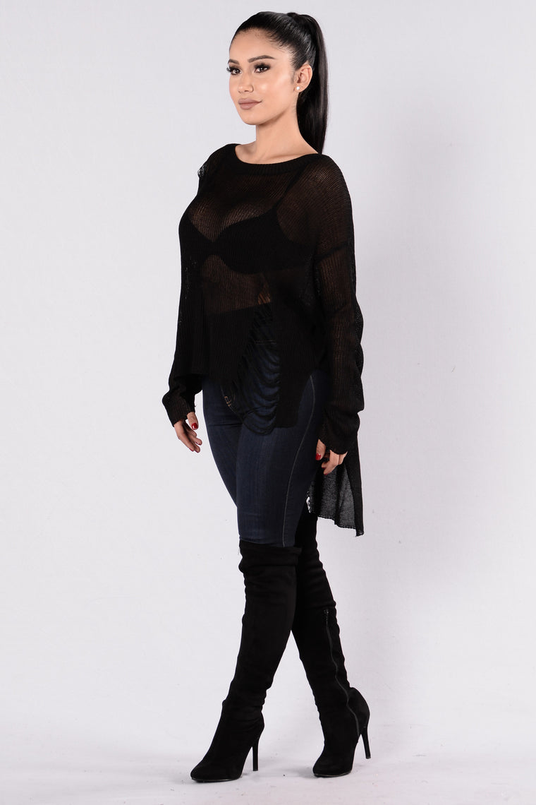 Tangled Sweater - Black