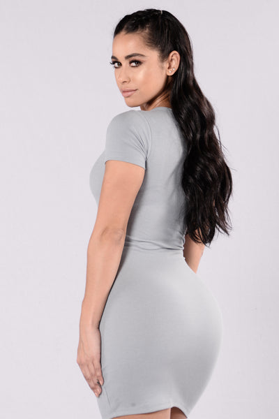 Love This Beat Dress - Dolphin Grey