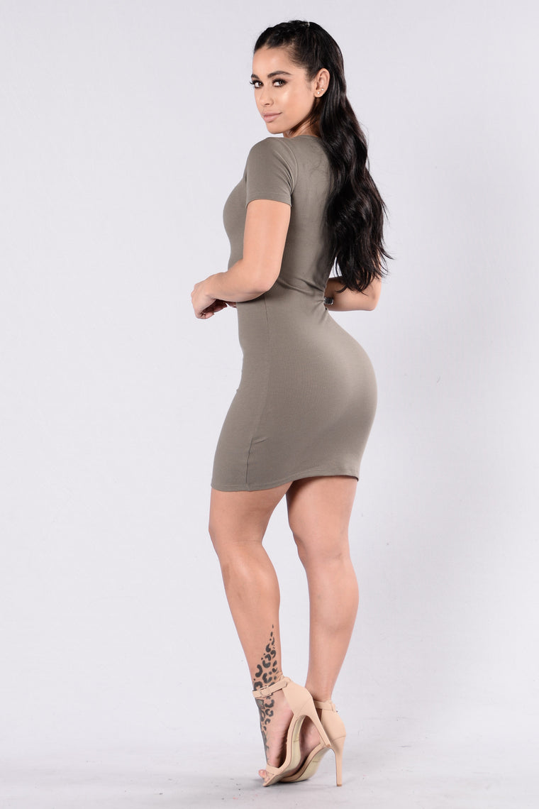 Love This Beat Dress - Olive