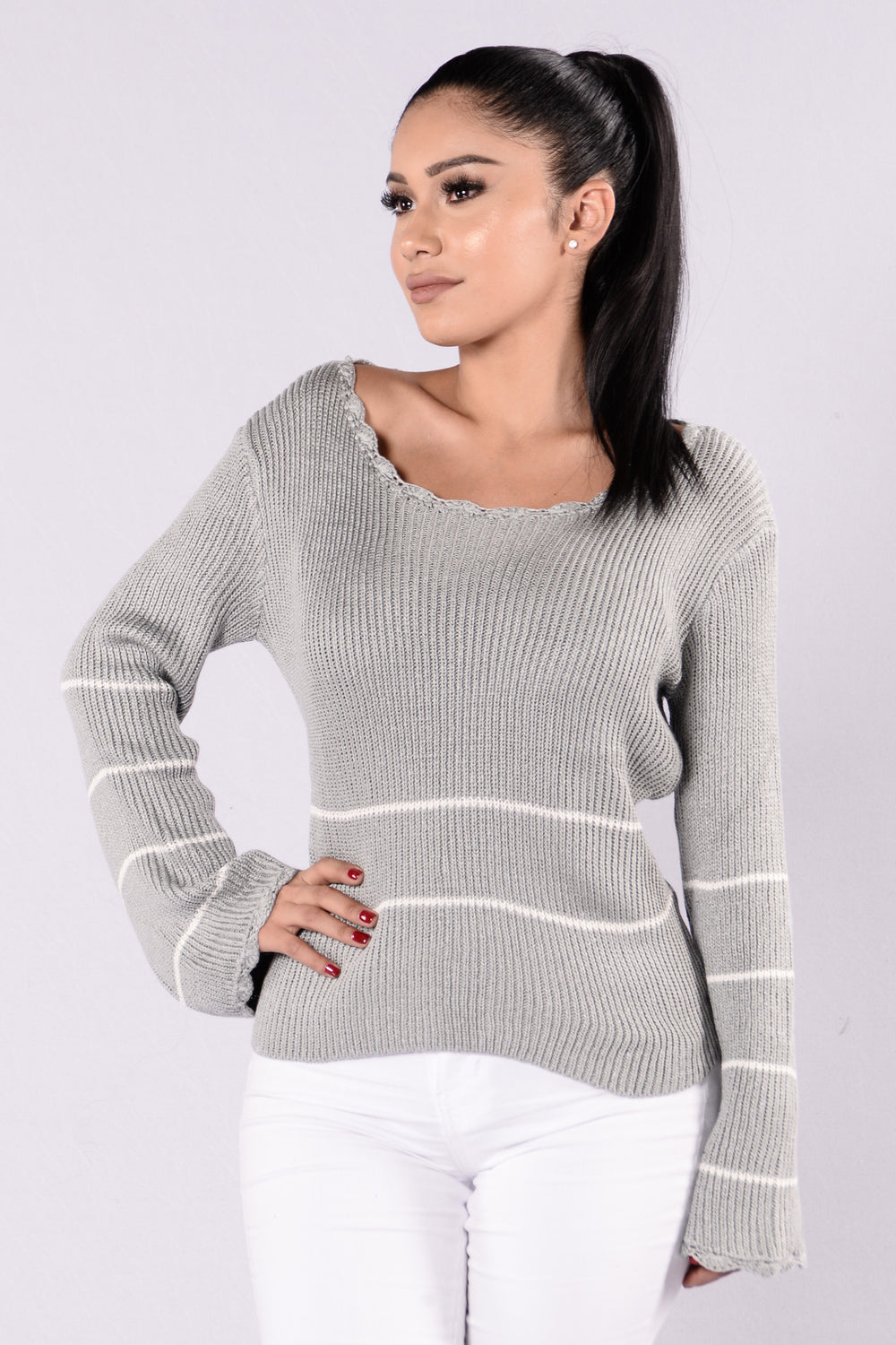 Love You Forever Sweater - Grey