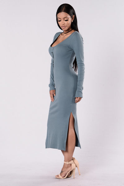 Spontaneous Night Dress - Slate Grey