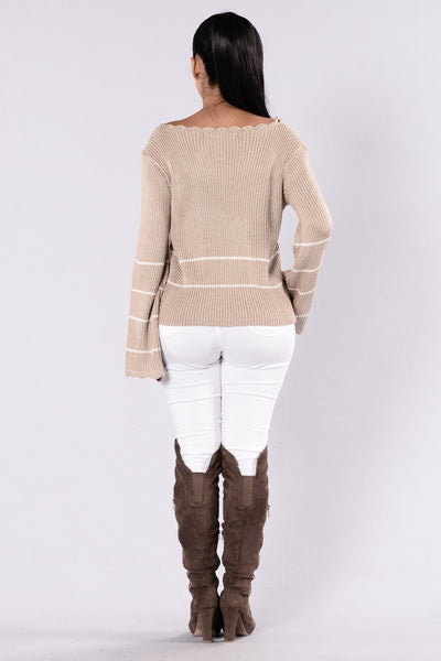 Love You Forever Sweater - Taupe
