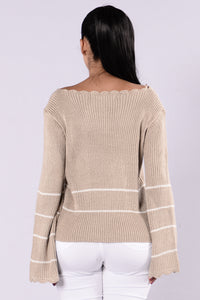 Love You Forever Sweater - Taupe Angle 2
