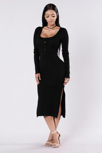 Spontaneous Night Dress - Black