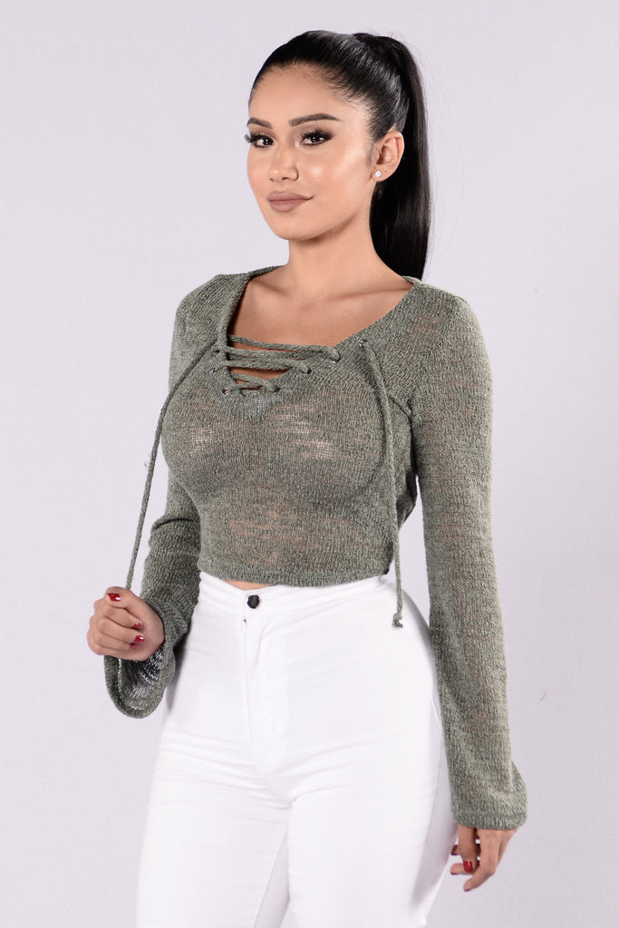Tying It Up Sweater - Olive