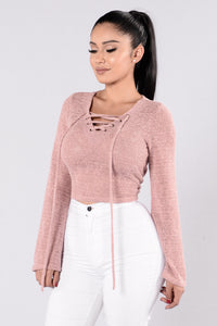 Tying It Up Sweater - Dusty Pink