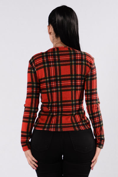 Cabin Weather Top - Red