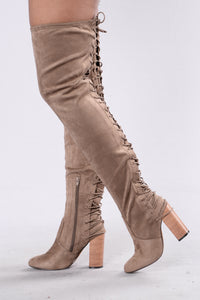 A Little Boom Boot - Taupe Suede