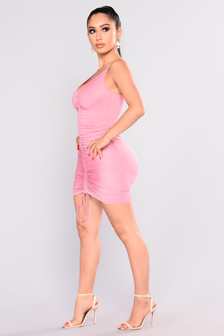 Shanghai Ruched Dress - Pink