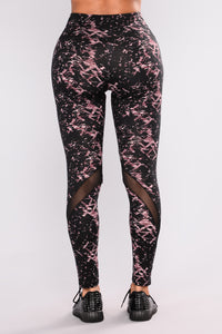 Bethany Print Active Legging - Pink Multi Angle 3