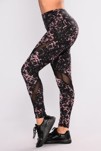 Bethany Print Active Legging - Pink Multi Angle 5