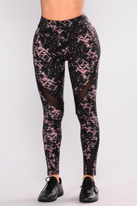 Bethany Print Active Legging - Pink Multi Angle 2