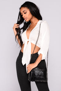Linked Up Crossbody Bag - Black