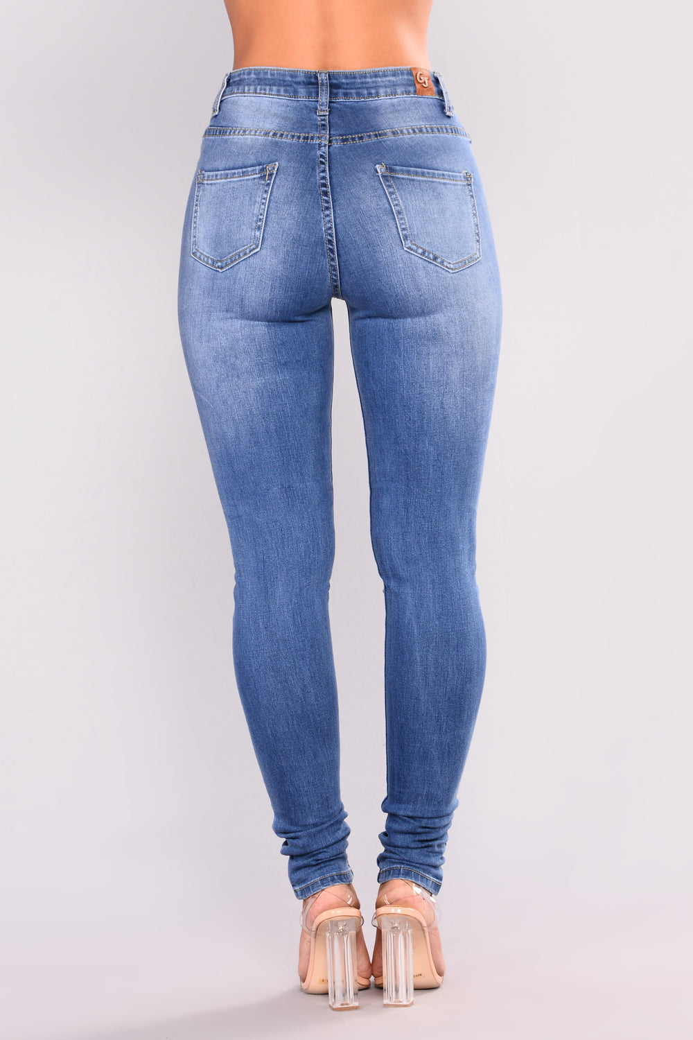 Bad Intentions Skinny Jeans - Medium Blue Wash