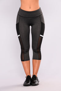 Athena Active Leggings - Charcoal