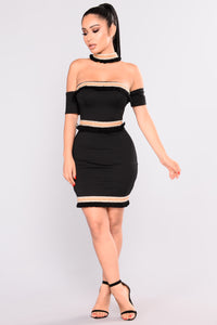 Augustina Off Shoulder Dress - Black