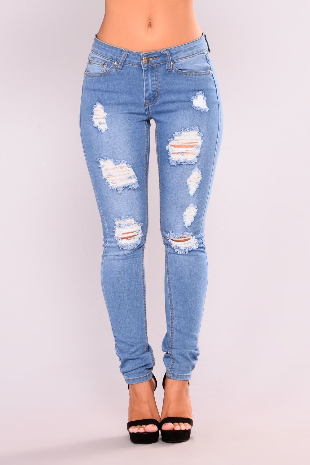 Beauty In Everything Skinny Jeans - Light Blue Wash