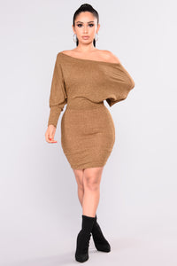 Did You Say Dulce De Leche Dress - Mustard Angle 2