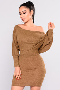 Did You Say Dulce De Leche Dress - Mustard Angle 1
