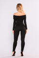 Relax Off Shoulder Jumpsuit - Black