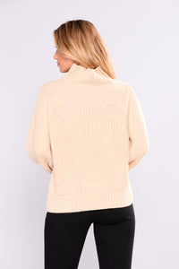 Allysa Off Shoulder Sweater - Natural