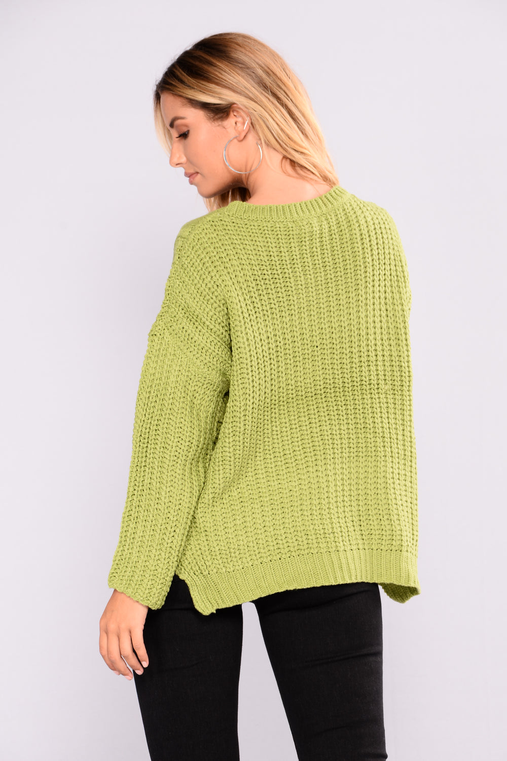 Her First Show Sweater - Apple Green