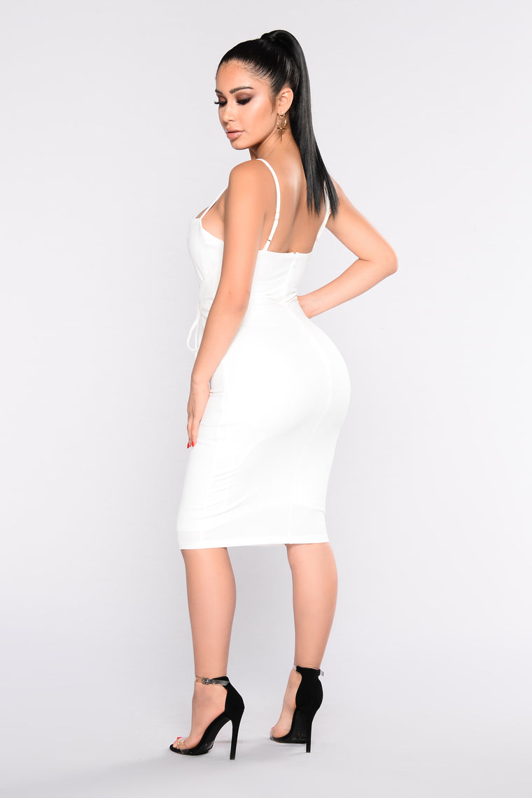 Beatrice Corset Dress - White