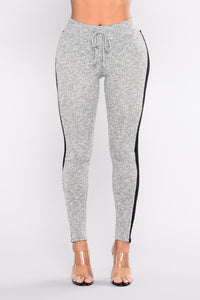 Track Star Active Bottoms - Heather Grey/Black