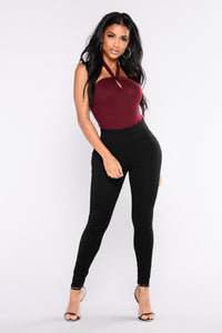 Taking Me Places Bodysuit - Wine