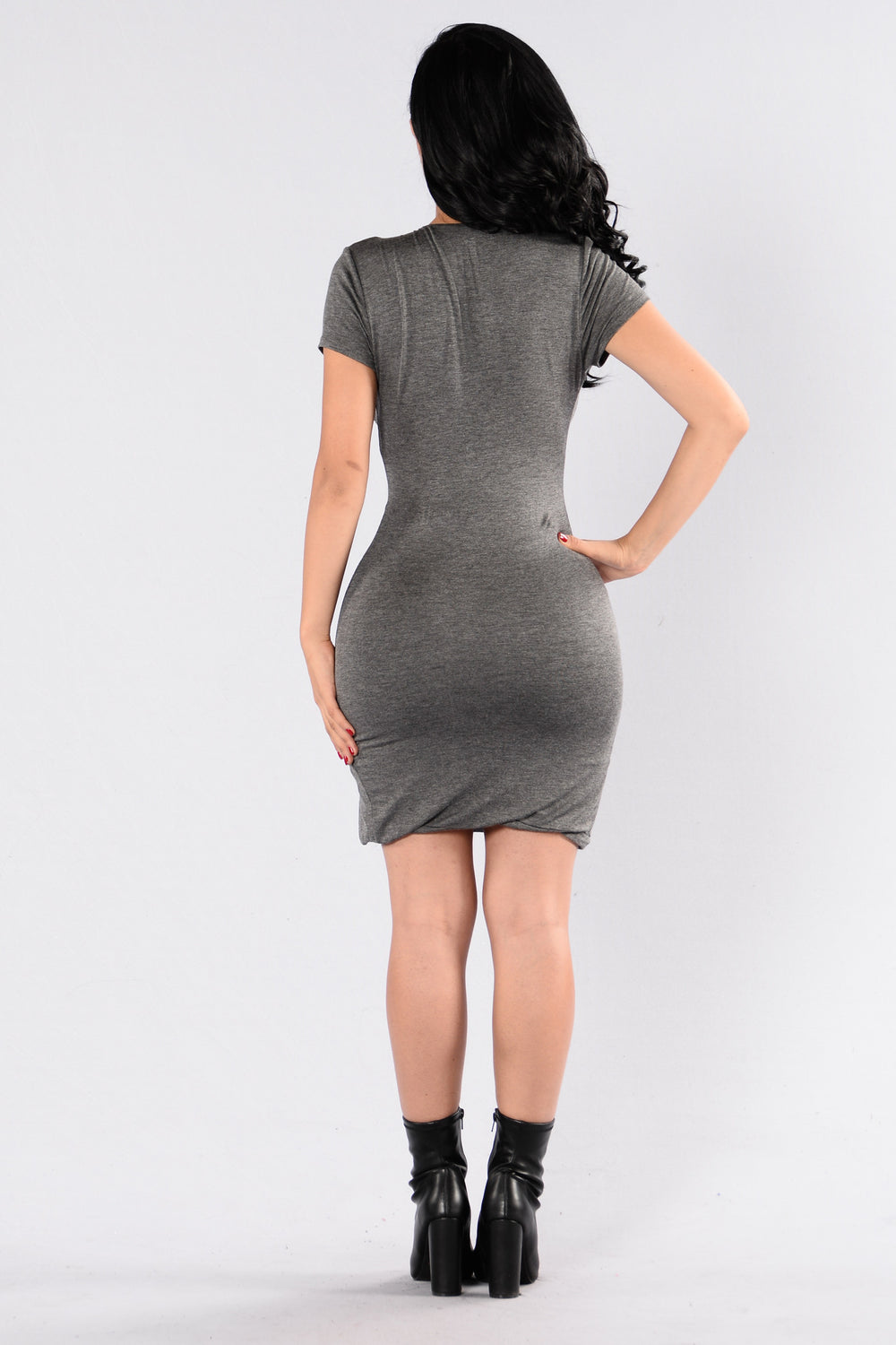 Single Ladies Dress - Charcoal