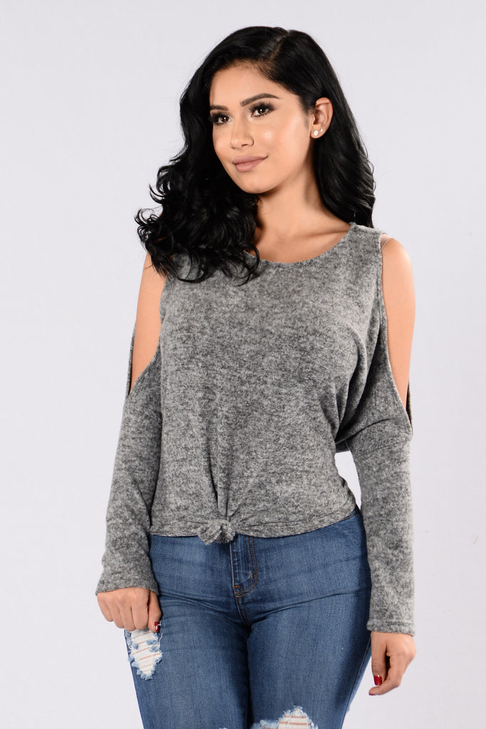 Told I Was Cold Sweater - Heather Grey