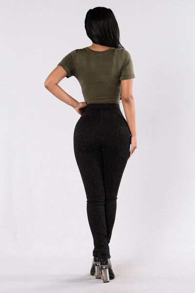 Zipped In Legging - Black