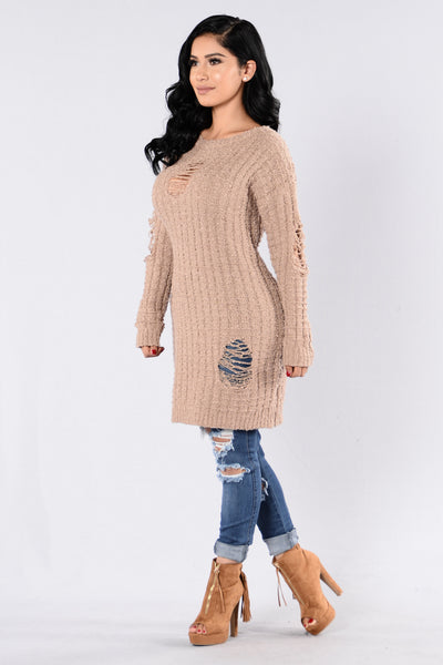 Colder Weather Sweater - Taupe