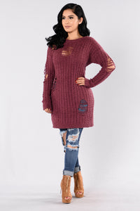 Colder Weather Sweater - Plum