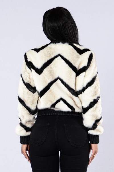 Can't Get Enough Jacket - Zebra
