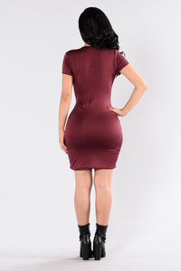 Single Ladies Dress - Plum