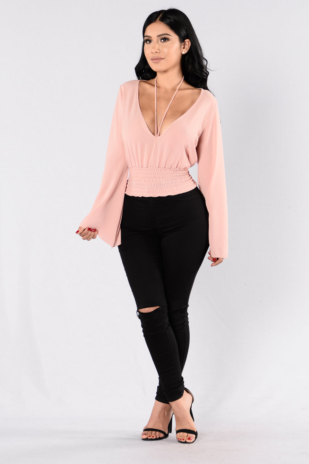Love On The Brain Top - Blush