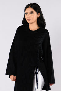 Pieces Of Me Sweater - Black