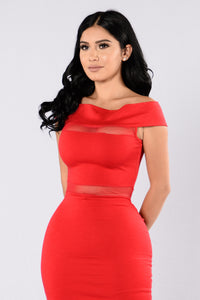 Side To Side Dress - Red